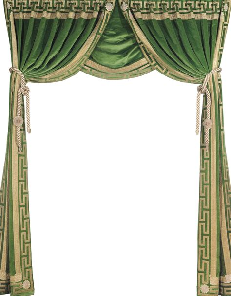green velvet curtain a pair of gilt edged green velvet curtains together with a