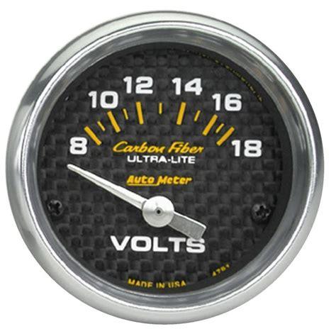 Voltmeter Analog Electric Merk Masda Berkualitas voltm 228 tare 52mm 18v elektrisk carbon fiber