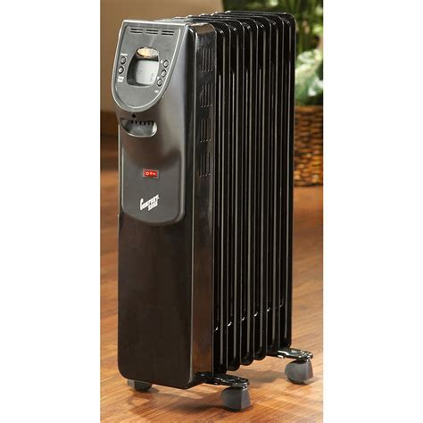 comfort zone oil filled heaters comfort zone 174 deluxe digital oil filled radiator heater