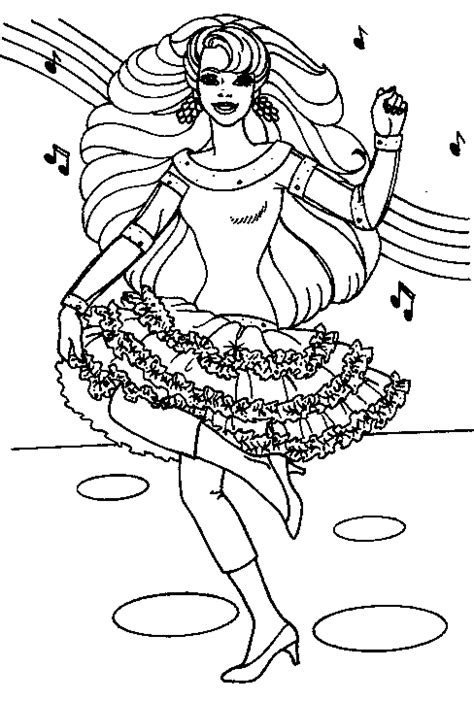 barbie winter coloring pages barbie coloring page barbie music all kids network