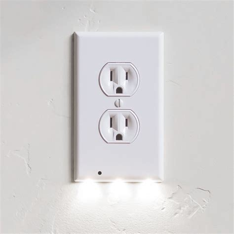 receptacle light cover snappower guidelight outlet coverplate whdu with led