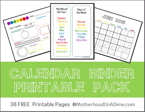 printable monthly calendar binder calendar binder free printables kids activities