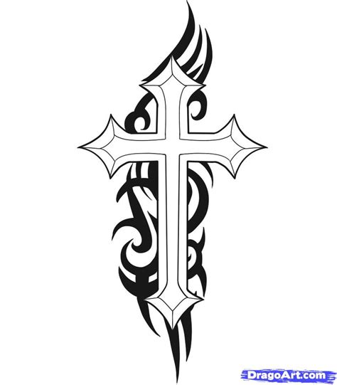 how to draw a cross tattoo step by step tattoos pop