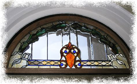 stained glass window  center front door