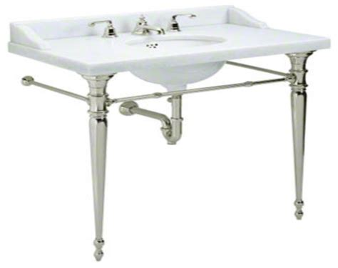 console bathroom sinks with chrome legs bath consoles curved cabinet doors curved bathroom vanity