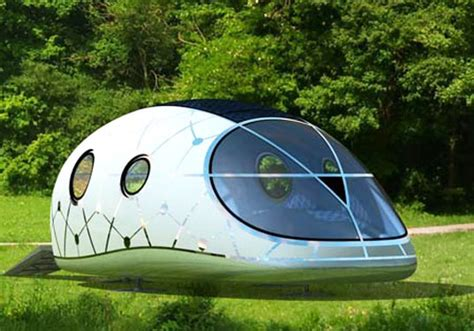 solar powered mobile home mercuryhouseone space age solar powered pod house unveiled inhabitat sustainable design