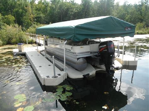 boat covers attached to dock boat with canopy it is attached at the bottom by a