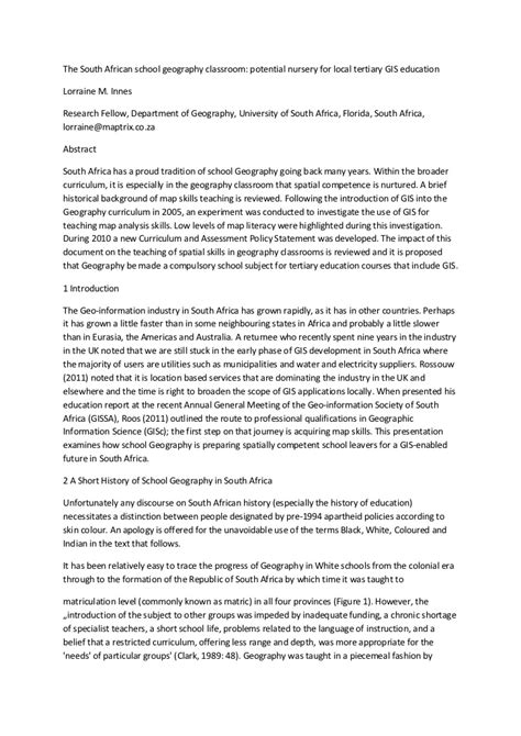 History Essays Grade 11 by The South School Geography Classroom