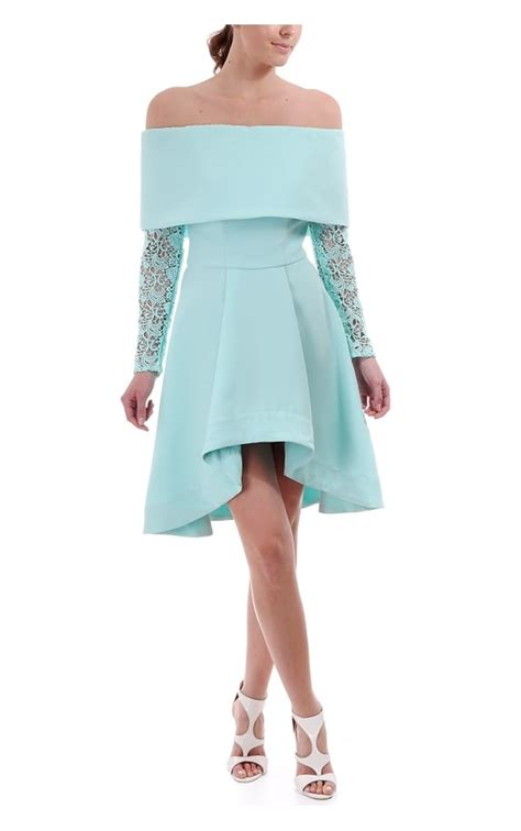 Dress Sirius the 8th sign the 8th sign sirius lace sleeve bardot dress aqua the 8th sign from blueberries uk