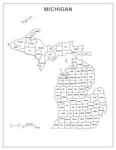 County Map Of Michigan by Michigan Labeled Map