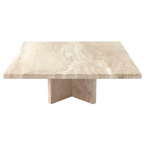 travertine coffee table large square travertine coffee table for sale at 1stdibs