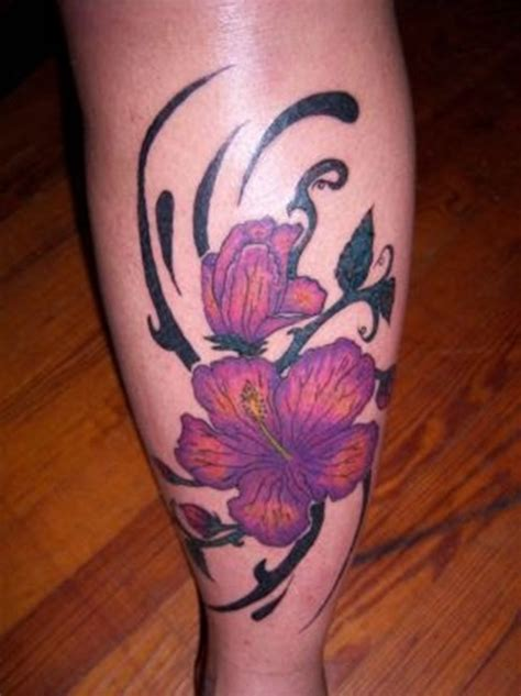25 hibiscus flower tattoo designs for women 17