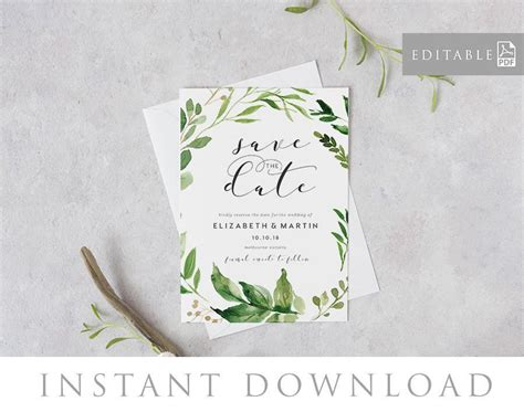 downloadable save the date templates free save the date editable pdf template instant