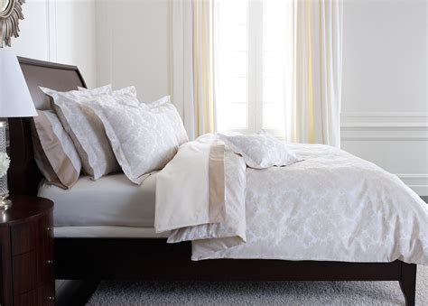 White And Duvet Cover Bayley Damask Duvet Cover White And Flax Bedding