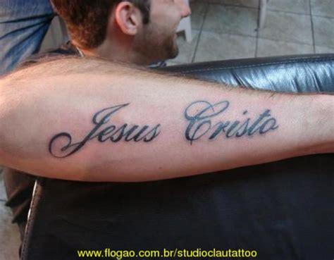 Tattoo Nome Jesus Cristo | tattoo masculina nome jesus cristo escrito imagens e