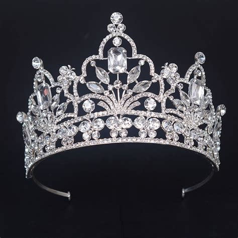 gorgeous silver large pageant crown noble