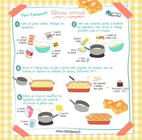 recette de cuisine simple avec des l馮umes recette g 226 teau semoule