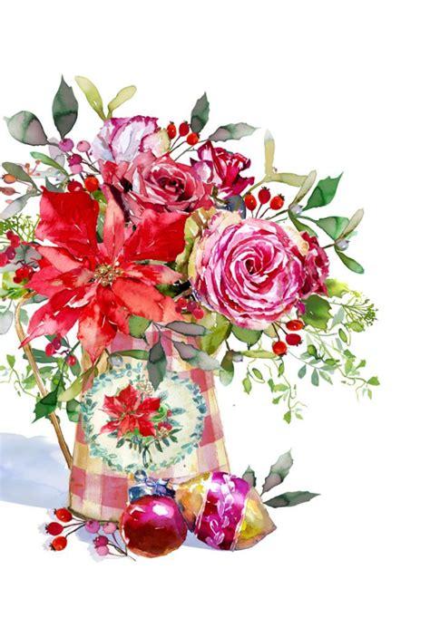 harrison ripley shab chic xmas roses flower illustration christmas illustration chicken