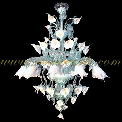 fiori di murano fiori di calla ladario in vetro di murano