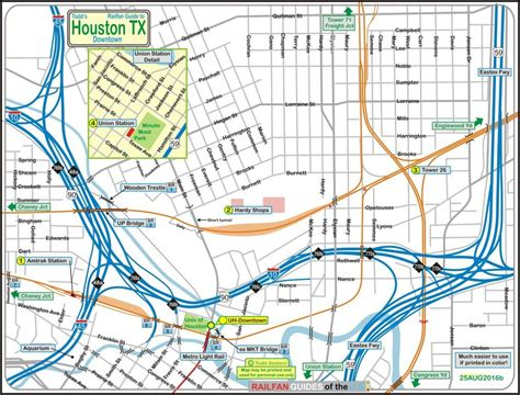 amtrak texas map houston railfan guide downtown amtrak station and tower 26