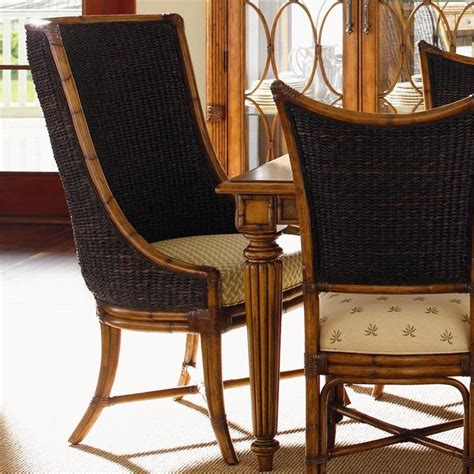 island estate customizable bay host chair with woven
