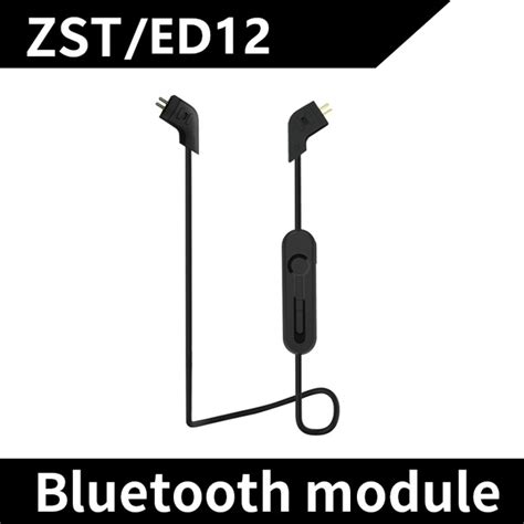 kz bluetooth cable kz bluetooth adapter cable for earphone zst ed12 black