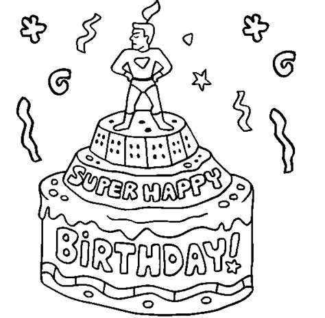 happy birthday pop pop coloring pages colour drawing free wallpaper happy birthday cake for kid