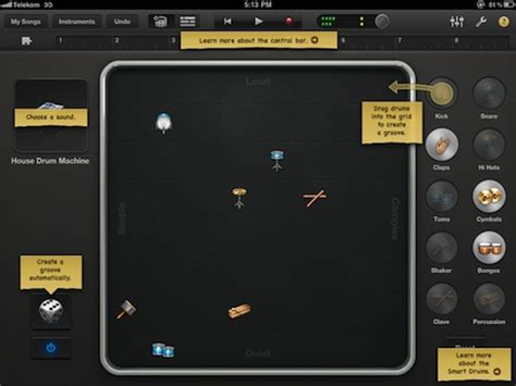 drum pattern for garageband garage band five stringer b