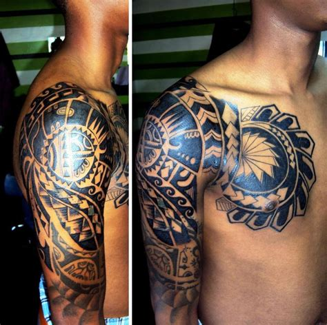 chest tattoo backgrounds maori chest and half a sleeve tribal tattoo tatoo