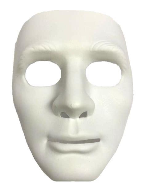 My Mask Plain Mask Type Pink blank mask plastic costume accessory blue green pink yellow white orange