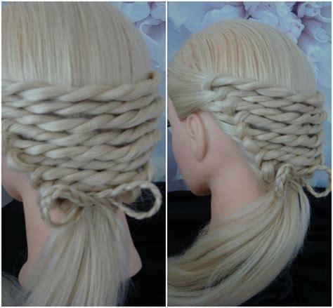 platts in hair rope twist with a bow platt hair tutorial hairstyle
