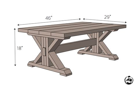 coffee table building plans trestle coffee table free diy plans coffee table plans