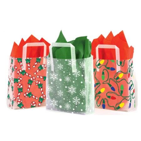 christmas design plastic gift bags box and wrap