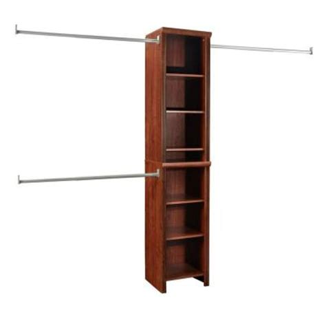 Home Depot Closet Organizer Kits closetmaid impressions 16 in cherry narrow closet