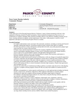 pasco county housing authority schedule 5 information technology policy