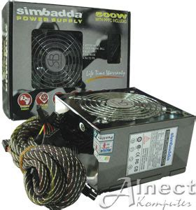 Simbadda 500 Watt jual psu simbadda 500w power supply unit alnect komputer web store