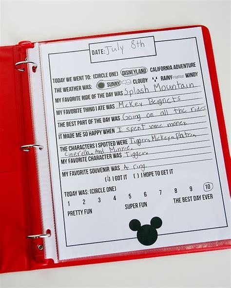 printable disneyland vacation planner free printable disney journal free printable journal