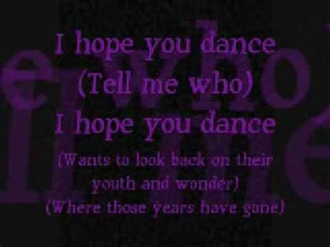 father daughter dance grad song i hope you dance by lee ann womack with lyrics