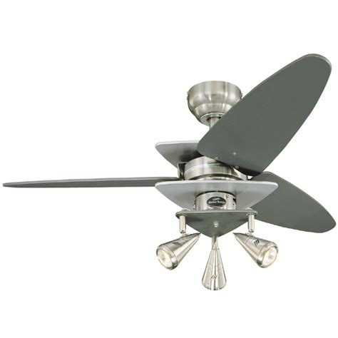 harbor breeze ceiling fan shop harbor breeze 42 in vector brushed nickel ceiling fan