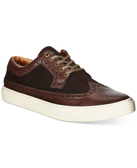 hilfiger sneakers lyst hilfiger macon sneakers in brown for