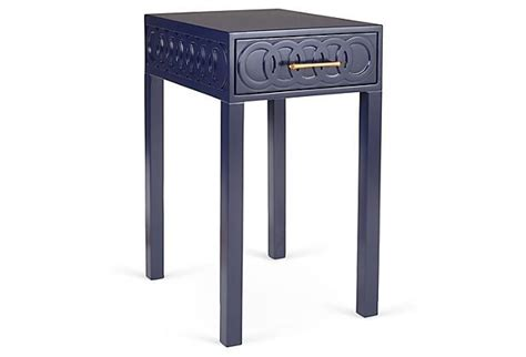 Navy Side Table Zahra Nightstand Navy Side Tables And Navy