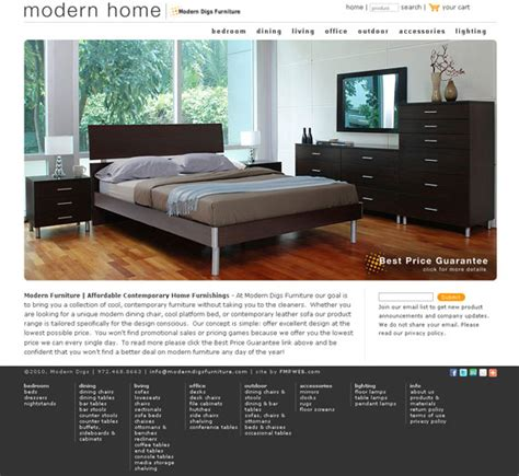 modern furniture websites home design