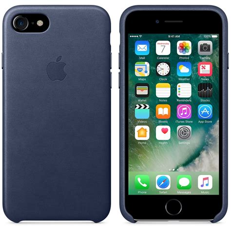 Original Apple Iphone 7 Leather Midnight Blue apple iphone leather for iphone 7 midnight blue