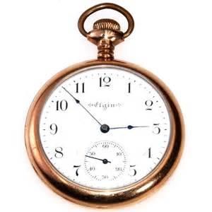 Historical Vases Antique Elgin Open Face Gold 7j 12s Pocket Watch Collect