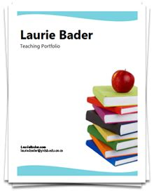 educational portfolio template laurie bader