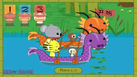 ni hao kai lan dragon boat race ni hao kai lan rintoo s dragon boat rowing race youtube