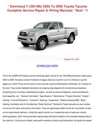 download car manuals 2006 toyota tacoma on board diagnostic system download 203 mb 2005 to 2006 toyota tacoma co by mathilde fellin issuu