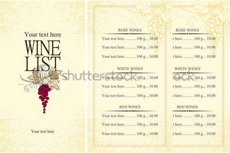wine menu templates 31 free psd eps documents download