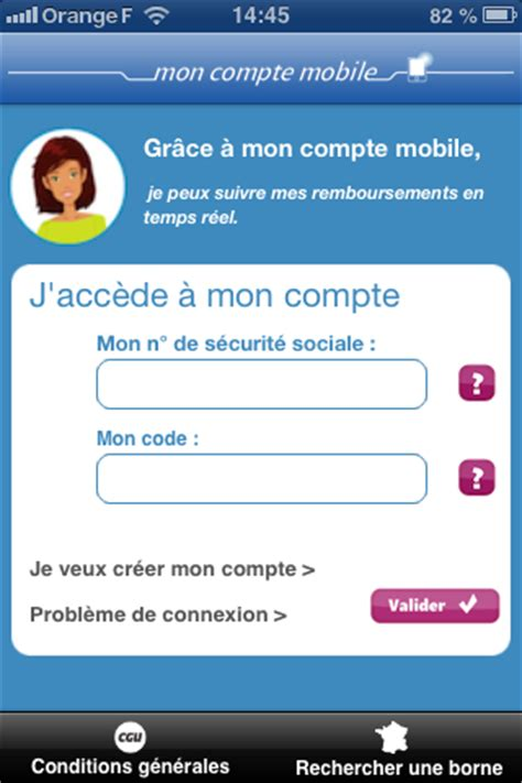 application mobile ameli (cpam) sur iphone et android!