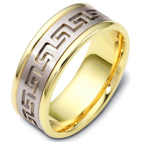 Wedding Rings Key Design by 47528pe Key Carved Wedding Ring